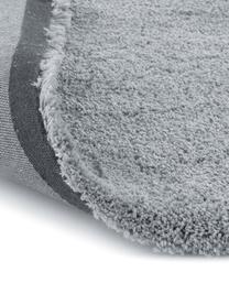 Flauschiger runder Hochflor-Teppich Leighton in Grau, Flor: 100% Polyester (Mikrofase, Grau, Ø 200 cm (Größe L)