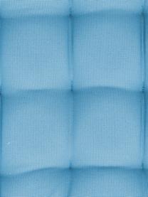Zweifarbig gewebtes Outdoor-Sitzkissen St. Maxime, Bezug: Polyester, Türkis, 38 x 38 cm