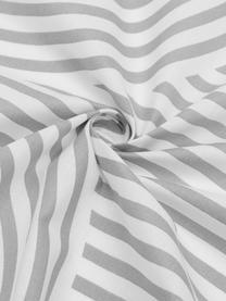 Gemusterte Baumwoll-Bettwäsche Arcs in Grau/Weiß, Webart: Renforcé Fadendichte 144 , Grau,Weiß, 240 x 220 cm + 2 Kissen 80 x 80 cm
