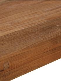 Esstisch Kapal mit Massivholzplatte, Tischplatte: 4 cm starkes, recyceltes , Beine: Stahl mit metallischen Ge, Teakholz, B 180 x T 90 cm