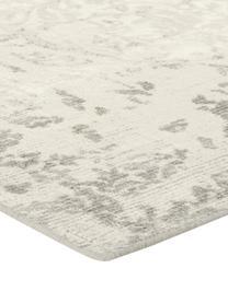 Tappeto vintage in lana/viscosa Florentine, 50% lana, 50% viscosa Nel caso dei tappeti di lana, le fibre possono staccarsi nelle prime settimane di utilizzo, questo e la formazione di lanugine si riducono con l'uso quotidiano, Beige, grigio chiaro, Larg. 140 x Lung. 200 cm (taglia S)