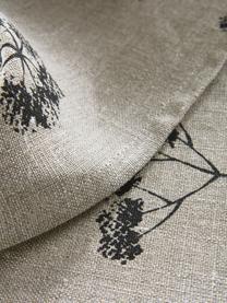 Tovaglia in cotone con motivo floreale Leaf, 100% cotone, Beige, nero, Per 4-6 persone (Larg.145 x Lung. 200 cm)