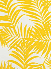 Outdoor-Kissen Gomera mit Blattmuster, mit Inlett, 100% Polyester, Gelb, 45 x 45 cm