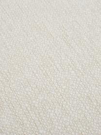 Poggiapiedi da divano in tessuto beige Tribeca, Struttura: legno di pino massiccio, Piedini: legno di faggio massiccio, Tessuto beige, Larg. 82 x Alt. 40 cm