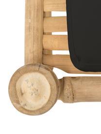 Bambus-Gartenliege Bamboo mit Polsterauflage, Gestell: Bambus, Bezug: 100% Baumwolle, Dunkelgrau, Braun, 80 x 210 cm