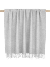 Leichte Babyalpaka-Decke Luxury in Hellgrau, Grau, 130 x 200 cm