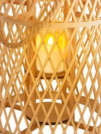 Solar LED-Kerze Korab mit Bambuskorb, Korb: Bambus, Griff: Jute, Braun, Ø 27 cm