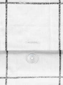 Parure copripiumino in percalle Juna, Bianco, nero, 155 x 200 cm