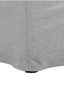 Bank Zach (2-zits) in grijs, Bekleding: polypropyleen, Poten: kunststof, Geweven stof grijs, B 191 x D 90 cm
