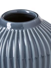 Kleine handgefertigte Design-Vase Hammershøi, Porzellan, Anthrazit, Ø 14 x H 13 cm