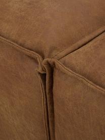 Canapé 4places modulable cuir recyclé Lennon, Cuir brun