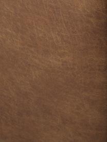 Divano componibile 4 posti in pelle riciclata Lennon, Rivestimento: pelle riciclata (70% pell, Struttura: legno di pino massiccio, , Piedini: plastica I piedini si tro, Pelle marrone, Larg. 327 x Prof. 119 cm