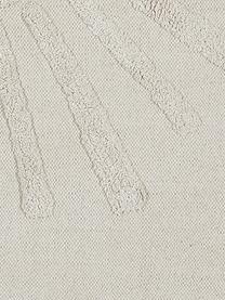 Badvorleger Sun mit Hoch-Tief-Motiv, Bio-Baumwolle, 100% Bio-Baumwolle Nicht rutschfest, Hellbeige, 60 x 90 cm