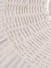 Lampada a sospensione Melody, Paralume: rattan, Baldacchino: materiale sintetico, Bianco latteo, Ø 51 x Alt. 30 cm