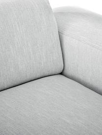 Divano a 3 posti in tessuto grigio chiaro Melva, Rivestimento: 100% poliestre Il rivesti, Struttura: pino massiccio, certifica, Tessuto grigio chiaro, Larg. 238 x Alt. 101 cm