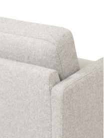 Chaise longue Fluente in beige met metalen poten, Bekleding: 80% polyester, 20% ramie, Frame: massief grenenhout, Poten: gepoedercoat metaal, Geweven stof beige, B 202 x D 85 cm