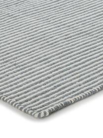 Tappeto in lana tessuto a mano Ajo, Grigio blu, crema, Larg. 140 x Lung. 200 cm (taglia S)