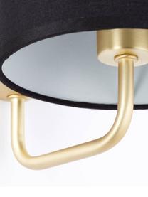 Applique dorato/nero Clarie, Paralume: 90% terylene, 10% cotone, Nero, ottonato, Larg. 15 x Alt. 18 cm