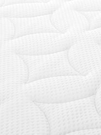Letto boxspring premium Violet, Materasso: a molle insacchettate a 7, Piedini: legno di faggio massiccio, Grigio chiaro, 200 x 200