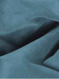 Puf z aksamitu Moby, Tapicerka: aksamit (wysokiej jakości, Stelaż: lite drewno sosnowe, Nogi: metal malowany proszkowo, Aksamitny turkusowy, S 78 x W 48 cm
