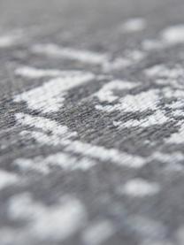 Vintage Chenilleteppich Medaillon, Vorderseite: 100% Chenillegarn (Baumwo, Webart: Jacquard, Rückseite: Chenillegarn, latexbeschi, Grau, Beige, B 80 x L 150 cm (Größe XS)