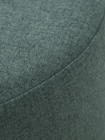 Hocker Mara mit Wiener Geflecht, Bezug: Polyester 40.000 Scheuert, Rahmen: Sperrholz, Fuß: Massives Birkenholz, Ratt, Dunkelgrün, Ø 37 x H 39 cm