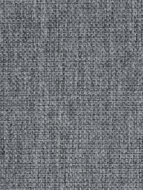 Bank Emma (2-zits) in grijs met metalen poten, Bekleding: polyester, Frame: massief grenenhout, Poten: gepoedercoat metaal, Geweven stof grijs, poten zwart, B 194 x D 100 cm
