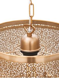 Lampa wisząca z metalu Hermine, Mosiądz, Mosiądz, matowy, Ø 35 cm x W 28 cm