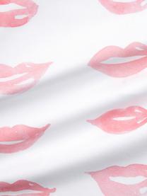 Federa arredo design Kera Till Sketchy, Cotone, Bianco, rosso, Larg. 40 x Lung. 40 cm