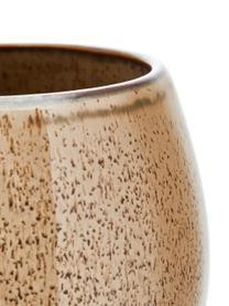 Handgemachte Teetassen Addison, 3er-Set, Steingut, Grau, Beige, Weiß, Ø 11 x H 10 cm