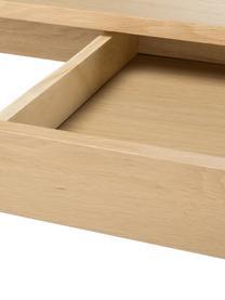 Scrivania in legno di quercia con cassetti Marte, Piano d'appoggio: pannello di fibra a media, Legno di quercia, bianco pigmentato, Larg. 120 x Prof. 60 cm