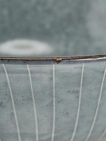 Ręcznie wykonana miska z kamionki Nordic Sea  Ø 21 cm, Kamionka, Odcienie szarego, odcienie niebieskiego, Ø 21 x W 8 cm