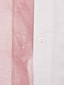 Baumwollperkal-Bettwäsche Rosario mit Aquarell Blumen-Print, Webart: Perkal Fadendichte 210 TC, Weiß, Rosa, 240 x 220 cm + 2 Kissen 80 x 80 cm