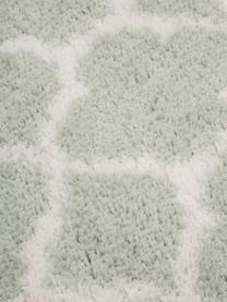 Hochflor-Teppich Mona in Mintgrün/Cremeweiß, Flor: 100% Polypropylen, Mintgrün, Cremeweiß, B 300 x L 400 cm (Größe XL)