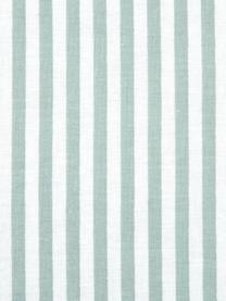 Gestreifte Baumwoll-Wendebettwäsche Lorena, Webart: Renforcé Fadendichte 144 , Salbeigrün, Weiß, 135 x 200 cm + 1 Kissen 80 x 80 cm