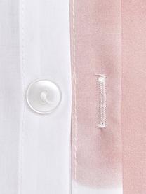 Designer Baumwollperkal-Bettwäsche Rest von Kera Till, Webart: Perkal Fadendichte 180 TC, Rosa, Weiß, Schwarz, 240 x 220 cm + 2 Kissen 80 x 80 cm