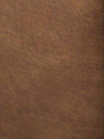 Divano componibile in pelle riciclata Lennon, Struttura: legno di pino massiccio, , Piedini: materiale sintetico I pie, Pelle marrone, Larg. 269 x Prof. 119 cm