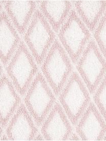 Serviette de toilette réversible en coton pur Ava, Rose, blanc crème