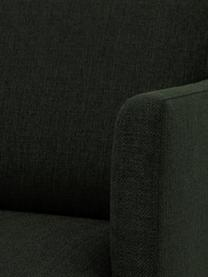 """Bank Fluente (2-zits) in donkergroen met metalen poten, Frame: massief grenenhout, Poten: gepoedercoat metaal"""", Geweven stof donkergroen, B 166 x D 85 cm"""