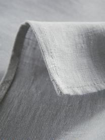 Leinen-Tischdecke Heddie in Graublau, 100% Leinen, Graublau, Für 4 - 6 Personen (B 145 x L 200 cm)