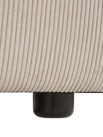 Narożna sofa modułowa ze sztruksu Lennon, Tapicerka: sztruks (92% poliester, 8, Stelaż: lite drewno sosnowe, skle, Nogi: tworzywo sztuczne Nogi zn, Sztruksowy beżowy, S 238 x G 180 cm