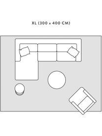 Hochflor-Teppich Velma in Creme/Dunkelgrau, Flor: 100% Polypropylen, Cremeweiß, Dunkelgrau, B 300 x L 400 cm (Größe XL)