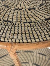 Tavolino in rattan beige/nero Celine, Gambe: rattan, Beige, nero, Ø 65 x Alt. 75 cm