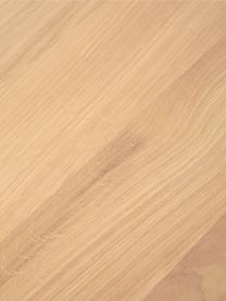 Eettafel Oliver met massief houten blad, Tafelblad: latten van wild eiken, ma, Poten: gepoedercoat metaalkleuri, Wild eiken, 160 x 90 cm