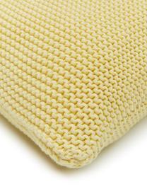 Strick-Kissenhülle Adalyn aus Bio-Baumwolle in Hellgelb, 100% Bio-Baumwolle, GOTS-zertifiziert, Hellgelb, 30 x 50 cm