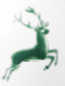 Pot à lait en céramique artisanale Cerf Vert Classic, 300ml, Vert, blanc