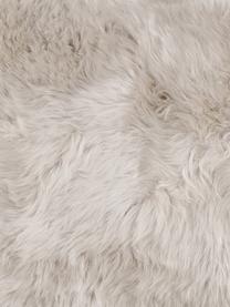 Federa arredo in pelle di pecora beige Oslo, Retro: lino, Beige, Larg. 40 x Lung. 40 cm