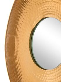 Set 3 specchi da parete Eyes, Cornice: Alluminio, martellato e r, Superficie dello specchio: lastra di vetro, Dorato, Set in varie misure