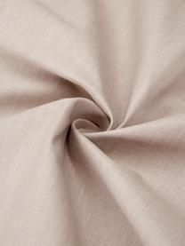 Gewaschene Baumwoll-Bettwäsche Arlene in Beige, Webart: Renforcé Fadendichte 144 , Beige, 240 x 220 cm + 2 Kissen 80 x 80 cm