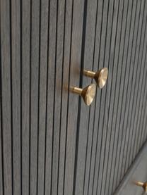 Highboard Clearbrook mit Türen, Korpus: Mitteldichte Holzfaserpla, Beine: Metall, pulverbeschichtet, Braun, Schwarz, 79 x 125 cm